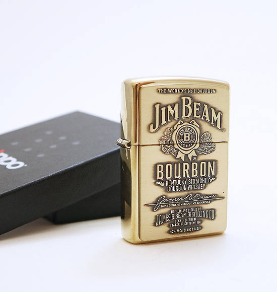 JIM BEAN BOURBON GOLD ZIPPO LIGHTER