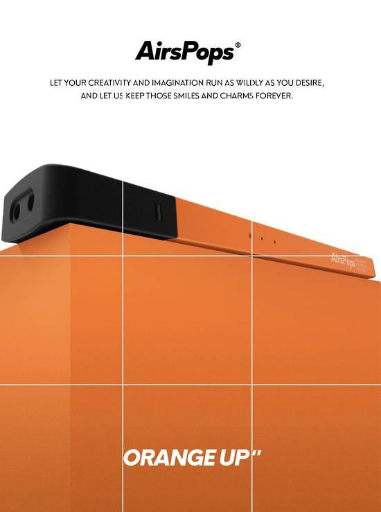 AirsPops Orange Up Limited Edition Battery Set