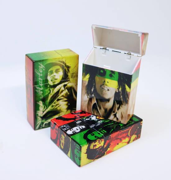 Bob Marley Cuban Cigarettes Case Jamaican Colours