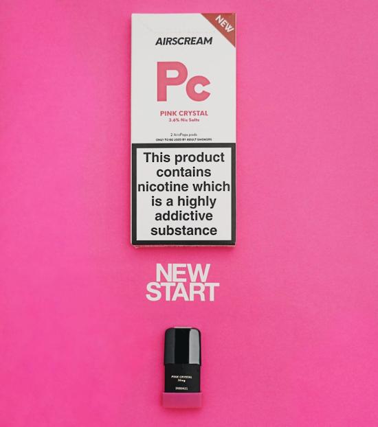 Pink Crystal -  AIRSCREAM AirsPops 2Pods 1.6ML