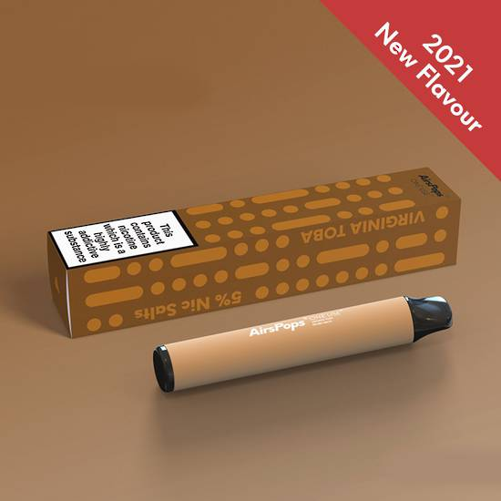 Virginia Toba -- AIRSCREAM AirsPops One-Use (Disposable) 800 puffs