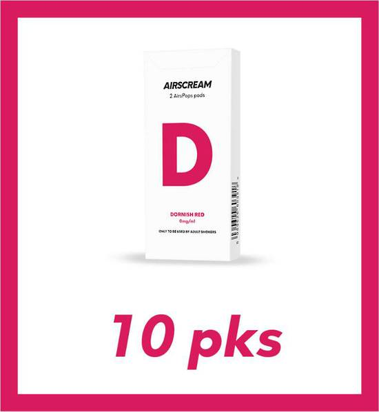 Airscream Dornish Red 2 pods 10 packs