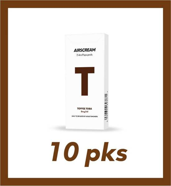 Airscream Toffee Toba 2 pods 10 packs