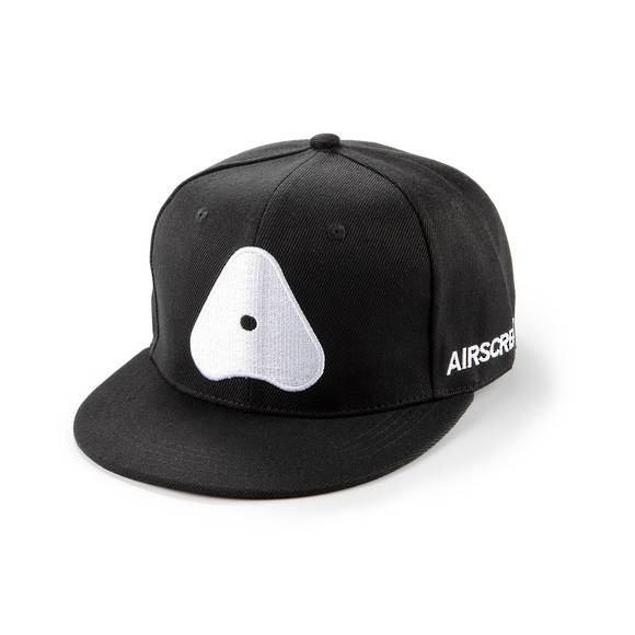 AIRSCREAM White Logo Cap Black