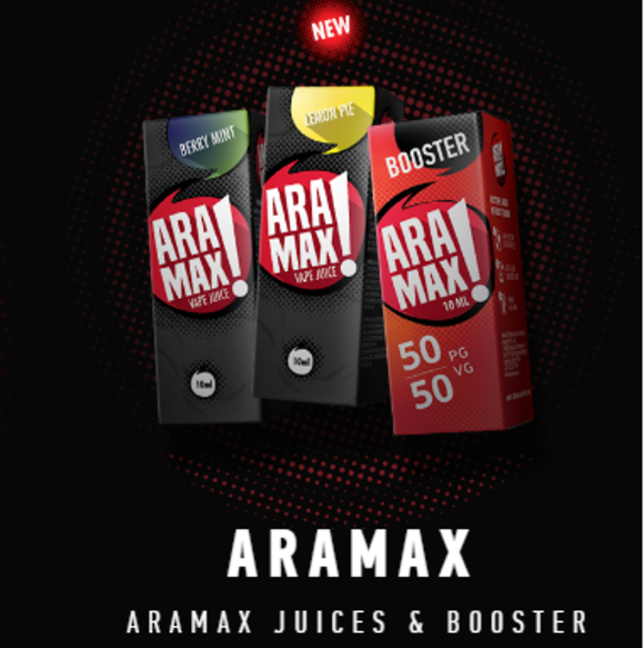 Aramax ejuice 30ml 0mg/ml, Fruity flavor