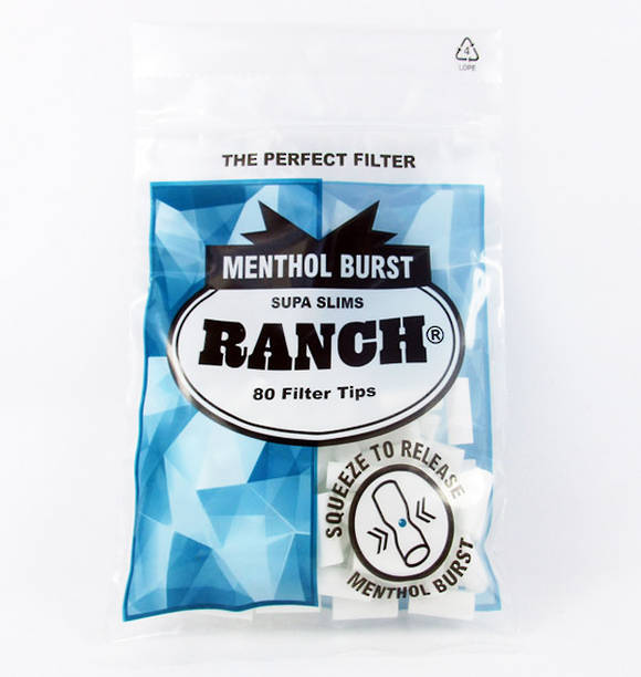 Ranch Menthol Burst Supa Slims Filter Tips
