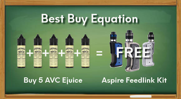 Buy 5 AVC and get a free Aspire Feedlink Revvo Kit