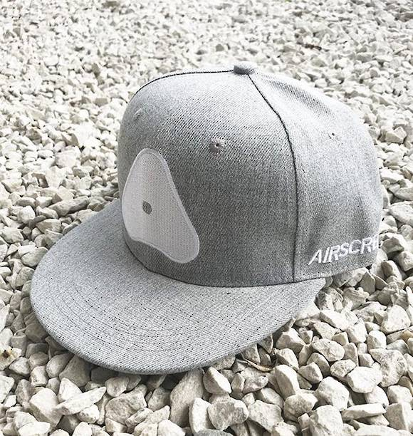 AIRSCREAM Logo Cap Grey