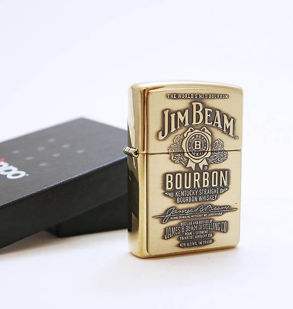 JIM BEAN BOURBON GOLD ZIPPO LIGHTER