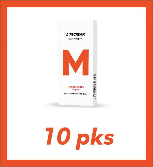 Airscream Mangolicious 1.2ml 2 pods 10 packs