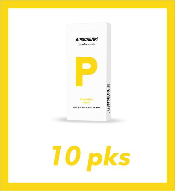 Airscream Pina King 1.2ml 2 pods 10 packs-No Refund or Exchange