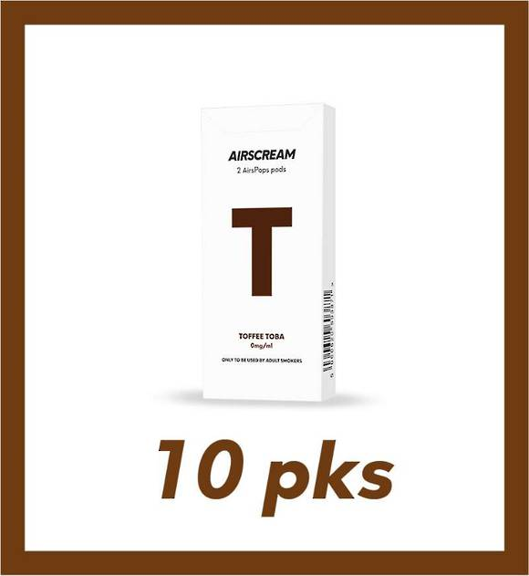 Airscream Toffee Toba 1.2ml 2 pods 10 packs