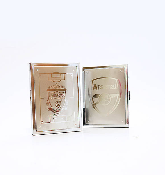 Football Team Stainless Steel Cigarettes Case