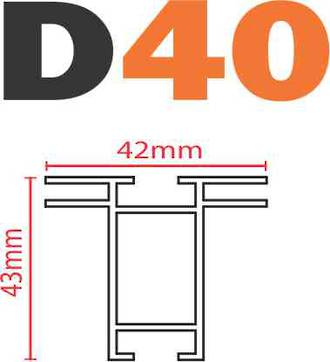 D40 SEG Frame-less Extrusion System