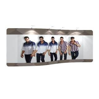 S Shape Textile Pop Up Display 20ft (5960mm)