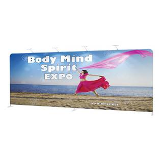 Straight Textile Pop Up Display 20ft (5960mm)