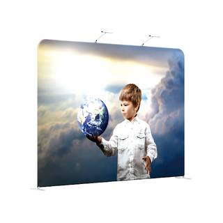 Straight Textile Pop Up Display 8ft (2438mm)