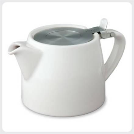Stump Teapot - White