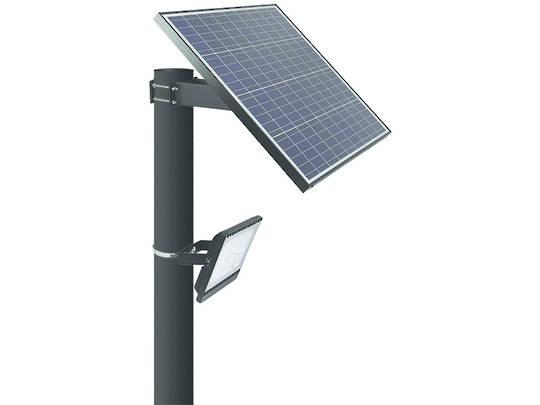 LEDSOLAR-FL30 & FL30-PIR - 30W Flood Light Solar Kit