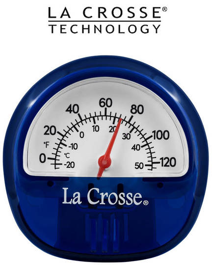 104-106BL La Crosse Indoor Outdoor Thermometer with Magnet