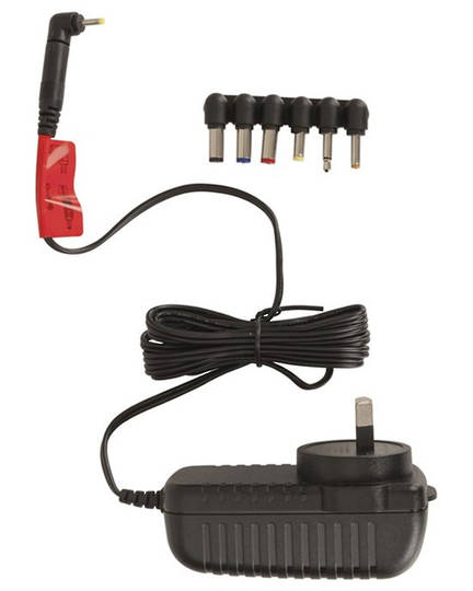 12V DC 1.5A Slim Power Supply 7 DC Plugs