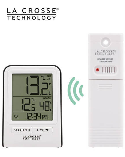 308-1409WT La Crosse Indoor Outdoor Thermometer