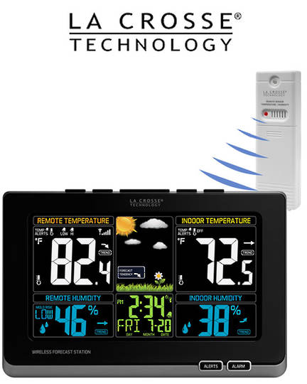308-1414MB Wireless Color Weather Station with MOLD RISK Feature