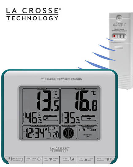 308-1711BL La Crosse Moon Phase Weather Station