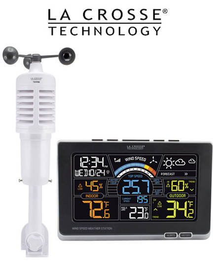 327-1414W Ver 2 La Crosse Prof Wind Speed Weather Station