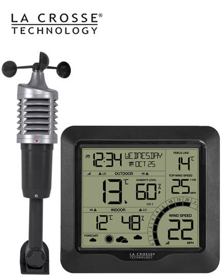 327-1417BW La Crosse Wind Speed Weather Station