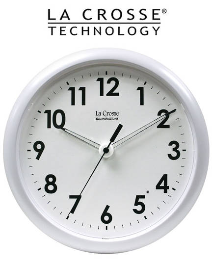 403-310 La Crosse Analog Wall Clock with Night Sensor