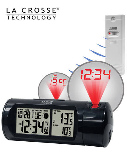 616-143 Projection Alarm Clock with Outdoor Temperature