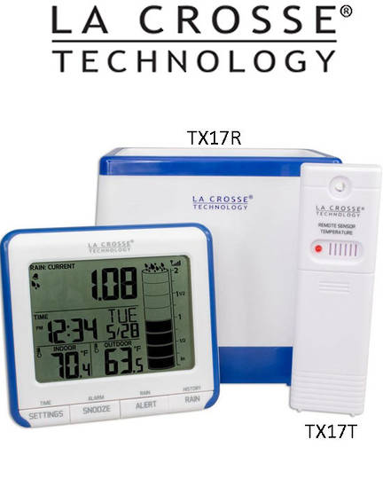724-1710 La Crosse Rain Monitor with Outdoor Temp
