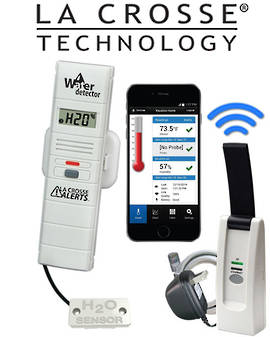 926-25104 La Crosse Alert Temp & Humidity Water Leak Detector