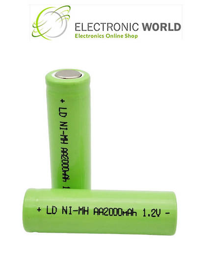 AA Size Flat Top Ni-MH Rechargeable Battery