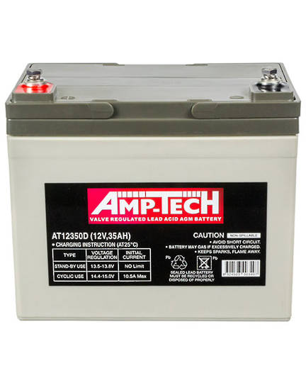 AMPTECH AT12350D 12V 35AH Deep Cycle SLA Battery