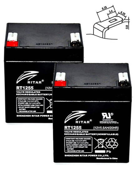 APC RBC20J 12V 5.5AH Replacement Battery Kit #20J