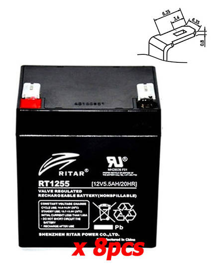 APC RBC43 12V 5.5AH Replacement Battery Kit #43