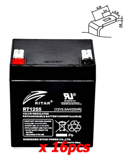 APC RBC44 RBC140 12V 5.5AH Replacement Battery Kit