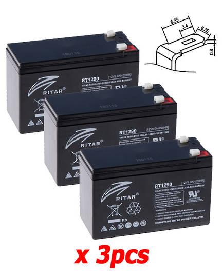 APC RBC53 Replacement Battery Kit #53 RITAR RT1290 12V9AH