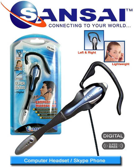 SANSAI Computer Headset with Microphone