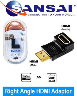 SANSAI HDMI A Plug to Female 90 degree adaptor