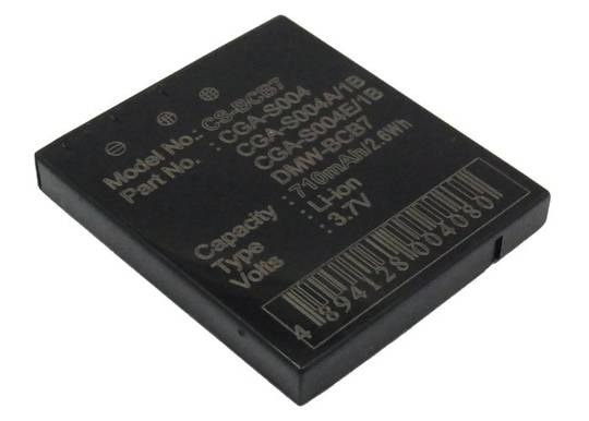 PANASONIC CGA-S004, CGA-S004A, CGA-S004A/1B Compatible Battery