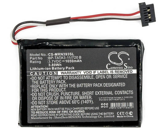 RoadMate N393M Moov M410 Compatible Battery