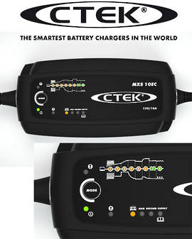 CTEK MXS 10EC 12V 10A with Extended Leads