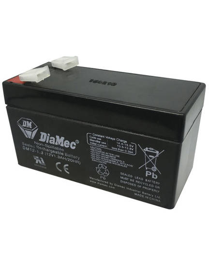 DIAMEC DM12-1.3 12V 1.3AH SLA battery
