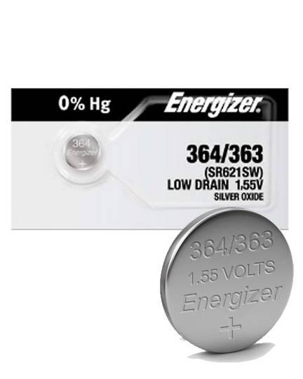 ENERGIZER 364 363 SR60 SR621SW Watch Battery