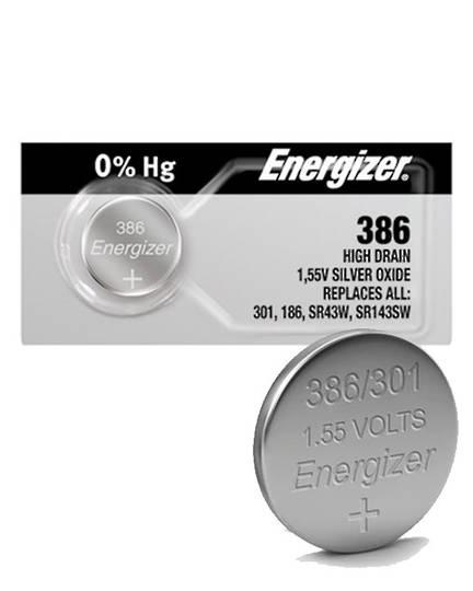 ENERGIZER 386 301 SR43W SR43SW Watch Battery