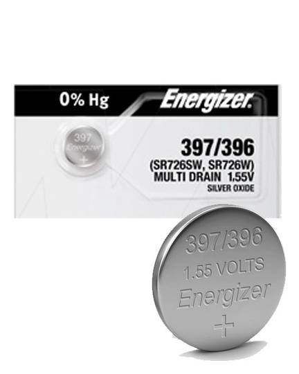 ENERGIZER 396 397 SR726W SR726SW SR59 Watch Battery