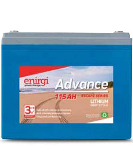 ENIRGI AL-12.8-115 Escape Series 115Ah Lithium Cell Deep Cycle Battery
